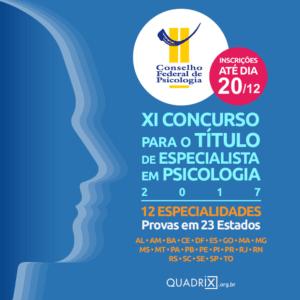 XI concurso para o título de especialista em Psicologia