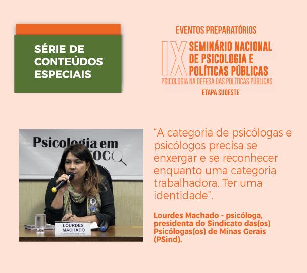 Chamada entrevista Lourdes Machado