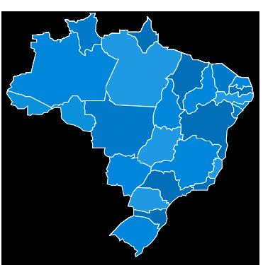 Mapa do Brasil - CNP - Congresso Nacional de Psicologia