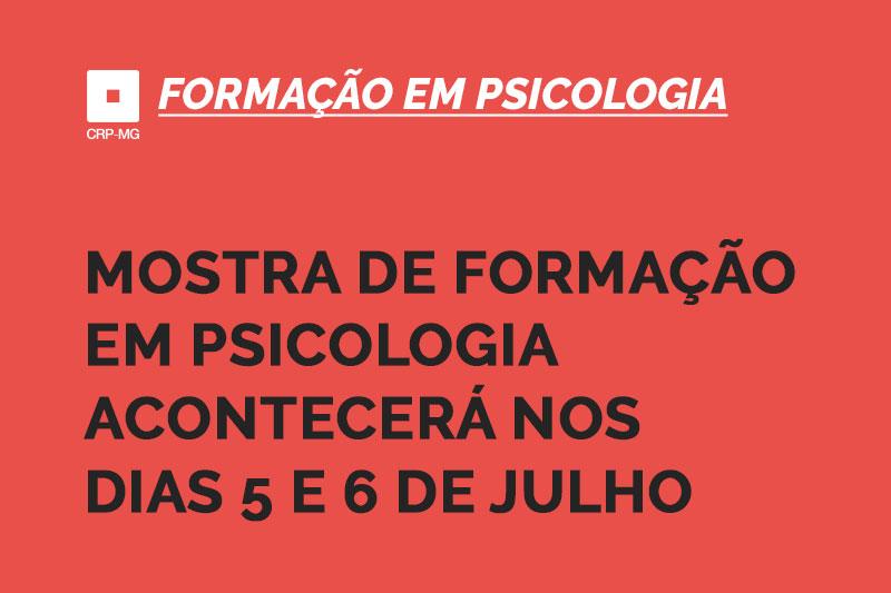 Mostra de formação em psicologia acontecerá nos dias 5 e 6 de julho