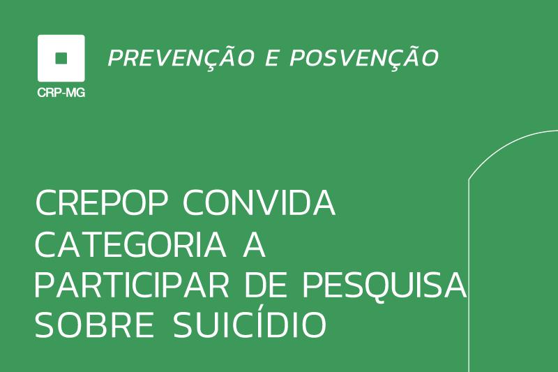 Crepop convida categoria a participar de pesquisa sobre suicídio